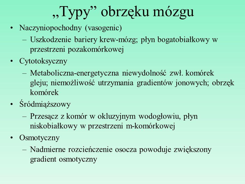 """""""Typy obrzęku mózgu Naczyniopochodny (vasogenic)"""