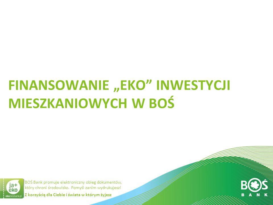"""Finansowanie """"eko inwestycji mieszkaniowych w BOŚ"""