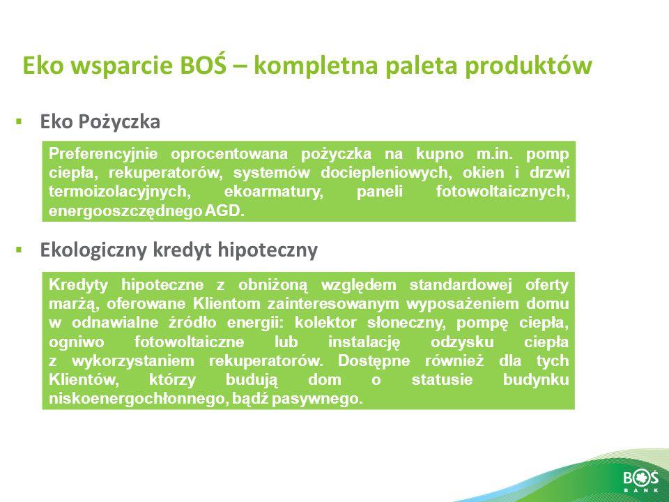 Eko wsparcie BOŚ – kompletna paleta produktów