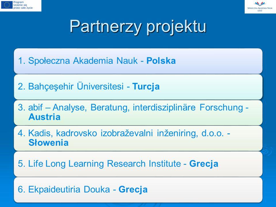 Partnerzy projektu 1. Społeczna Akademia Nauk - Polska