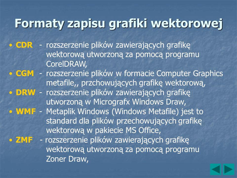 Formaty zapisu grafiki wektorowej