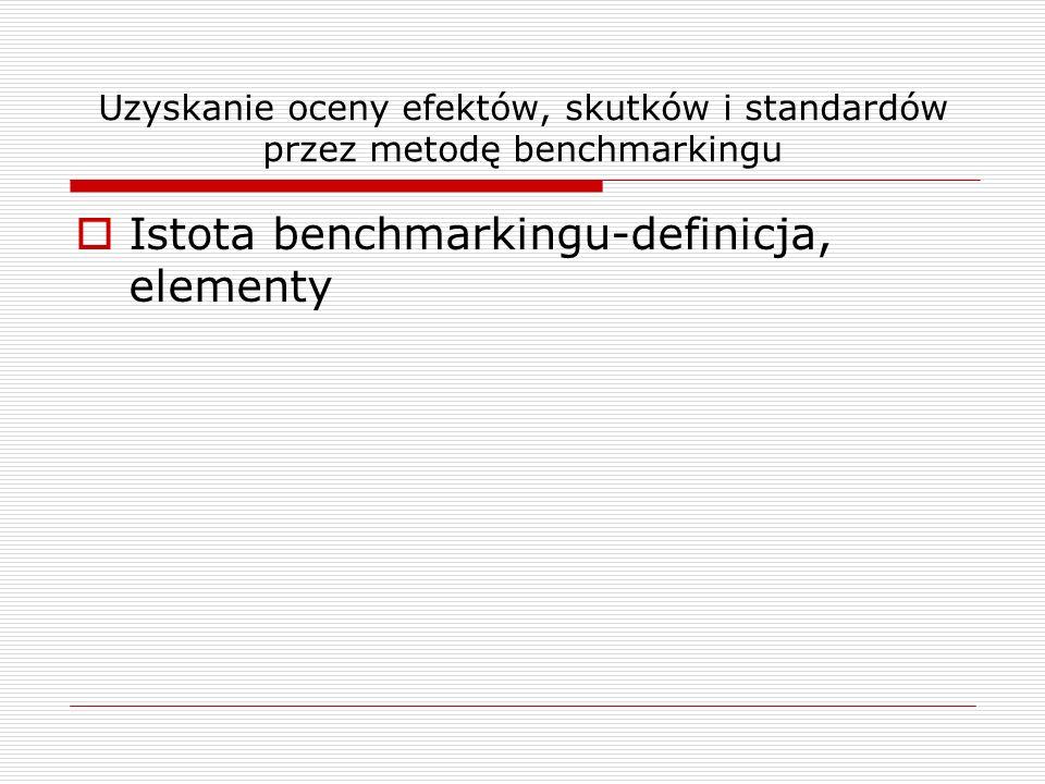 Istota benchmarkingu-definicja, elementy