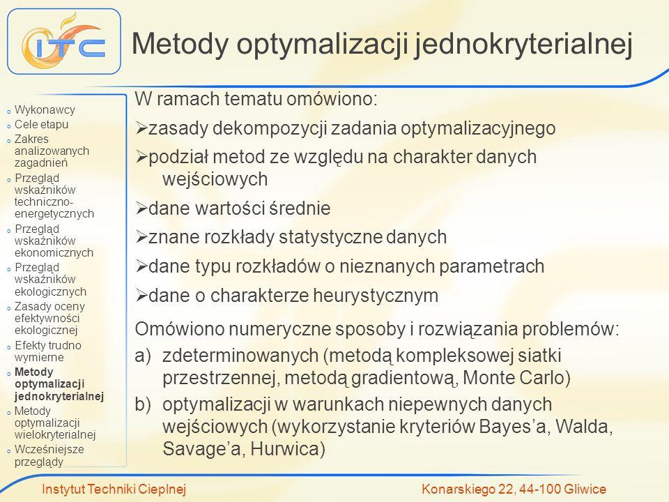 Metody optymalizacji jednokryterialnej