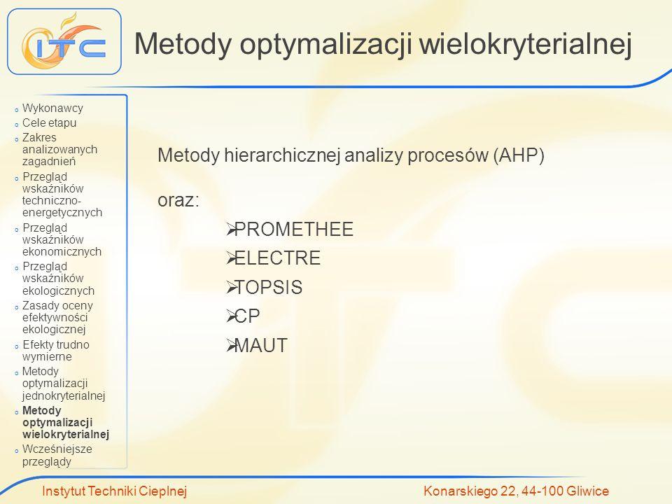 Metody optymalizacji wielokryterialnej