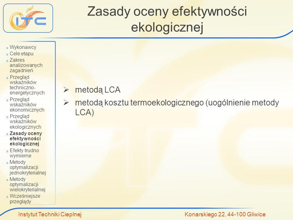 Zasady oceny efektywności ekologicznej
