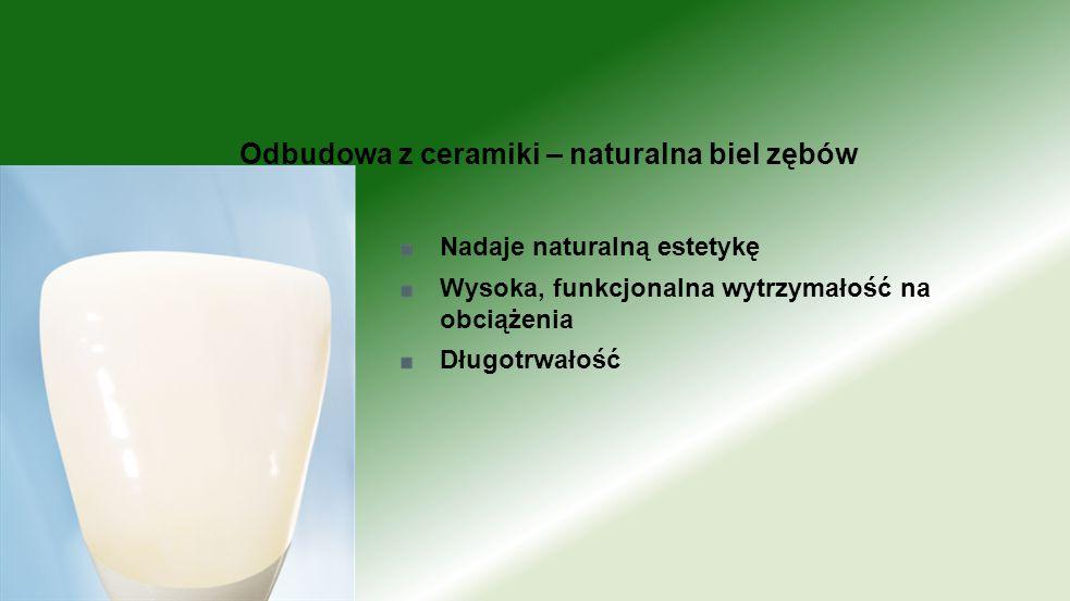 Odbudowa z ceramiki – naturalna biel zębów
