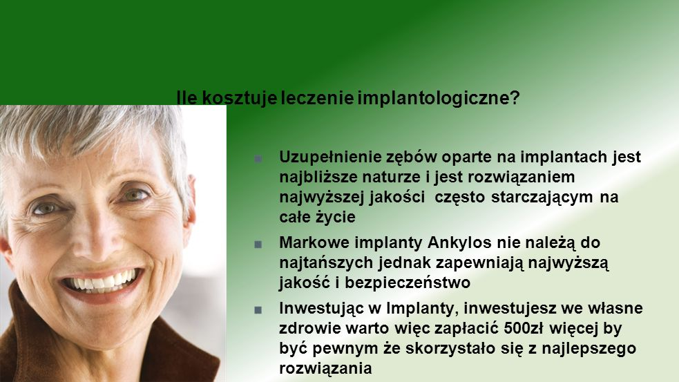 Ile kosztuje leczenie implantologiczne