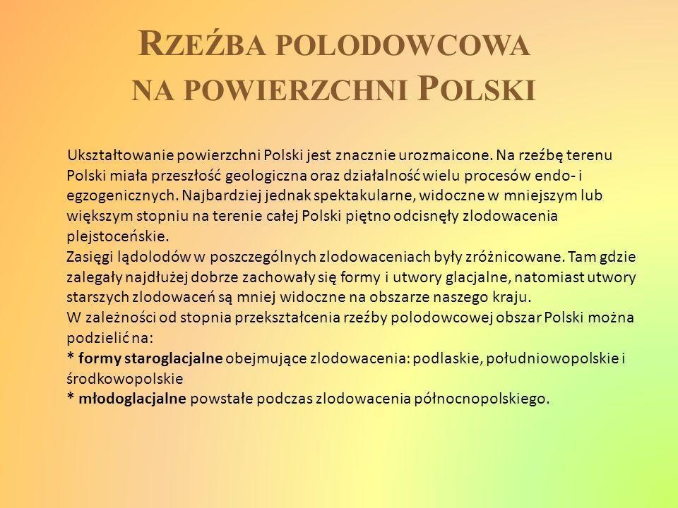 Rzeźba polodowcowa na powierzchni Polski