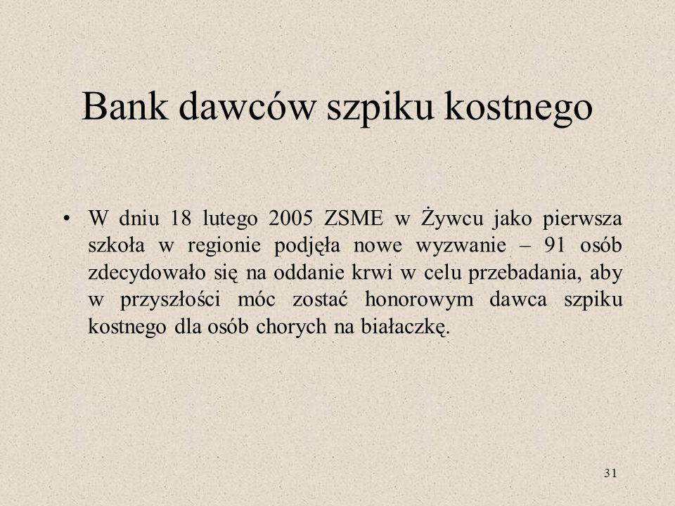 Bank dawców szpiku kostnego