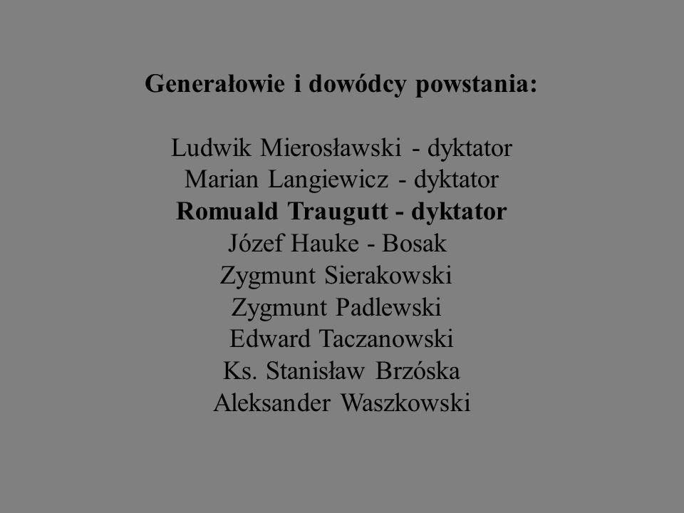 Generałowie i dowódcy powstania: