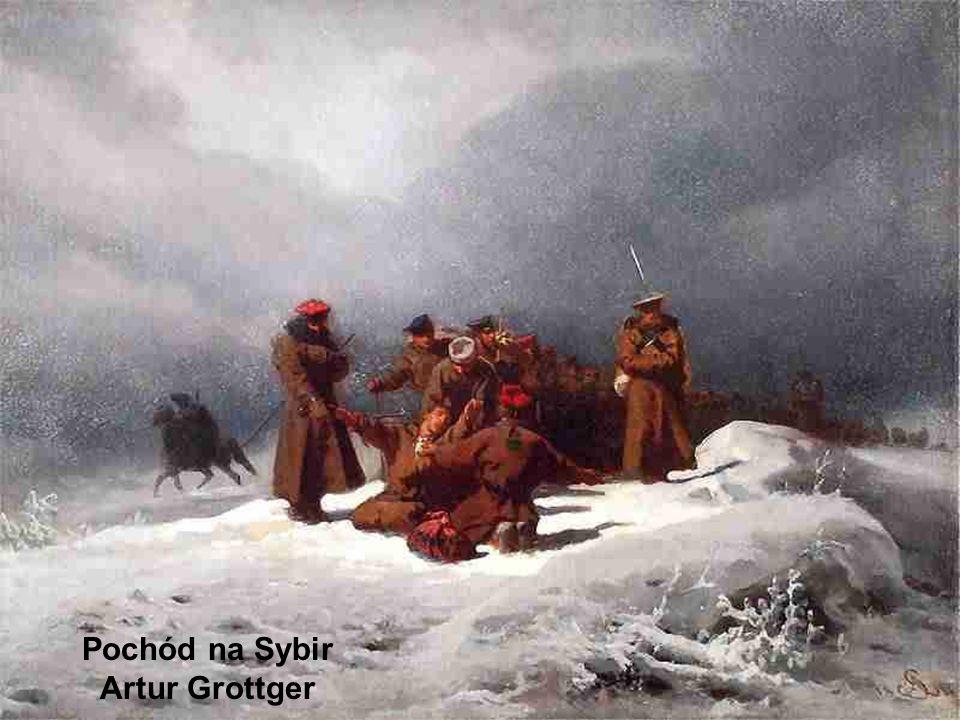 Pochód na Sybir Artur Grottger