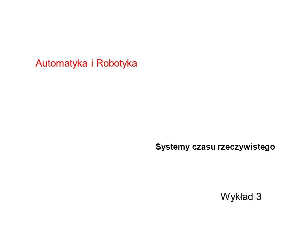 Automatyka i Robotyka Systemy czasu rzeczywistego Wykład 3