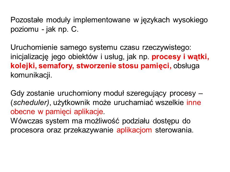 Pozostałe moduły implementowane w językach wysokiego poziomu - jak np