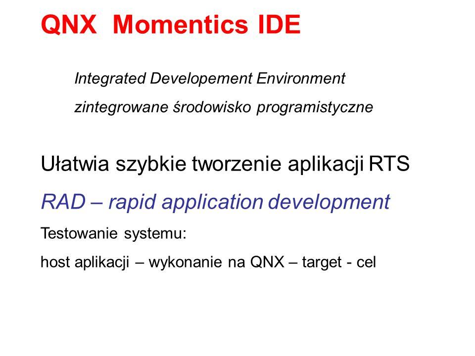 QNX Momentics IDE Ułatwia szybkie tworzenie aplikacji RTS