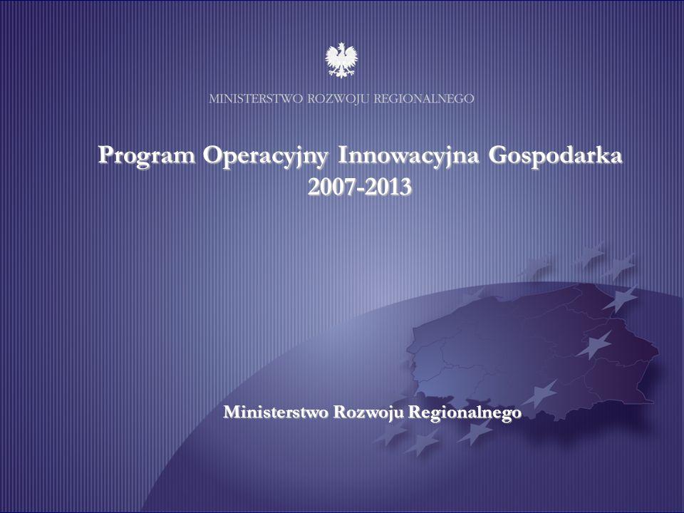 Program Operacyjny Innowacyjna Gospodarka 2007-2013