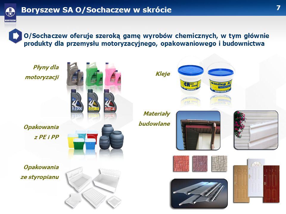 Boryszew SA O/Sochaczew w skrócie