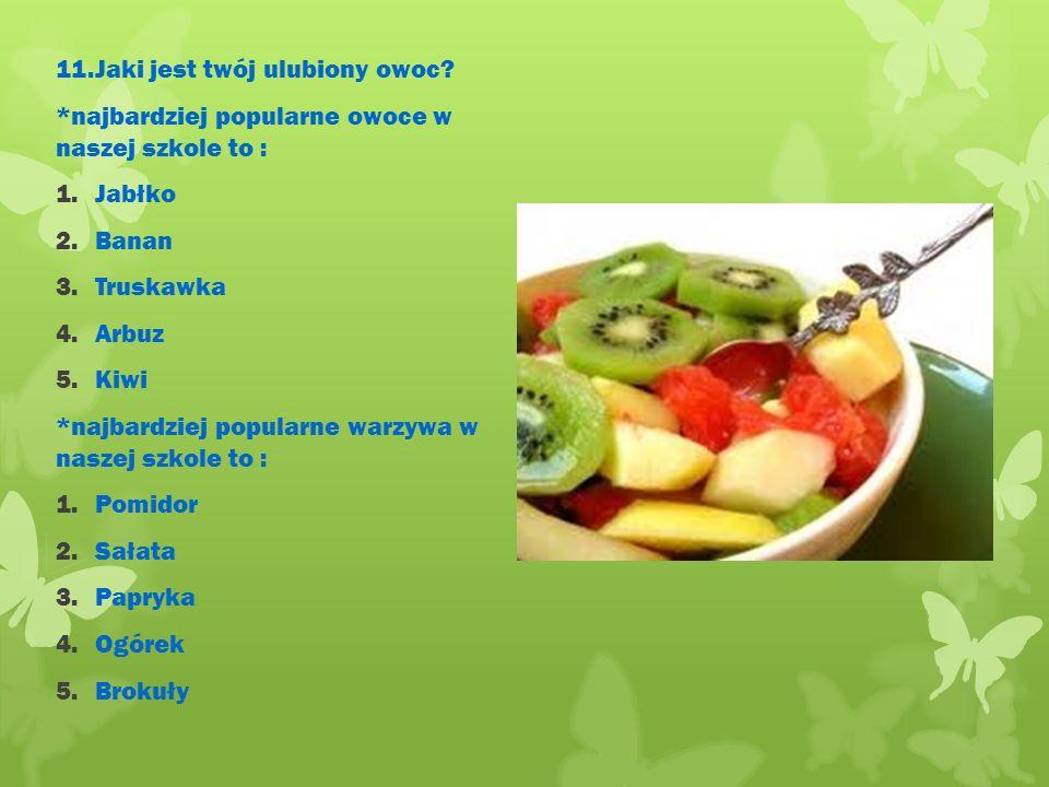 11.Jaki jest twój ulubiony owoc