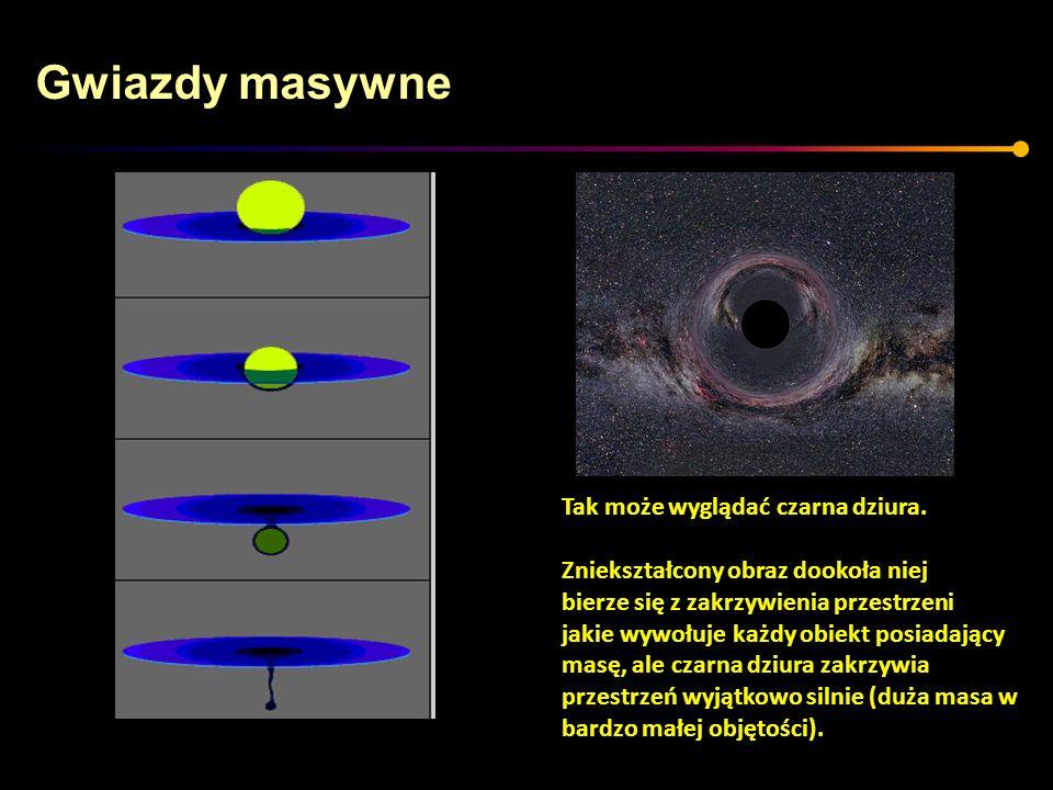 Gwiazdy masywne Tak może wyglądać czarna dziura.
