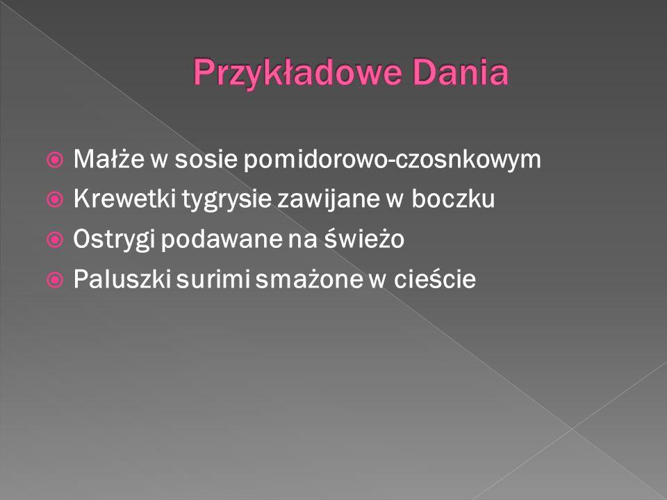 Przykładowe Dania Małże w sosie pomidorowo-czosnkowym