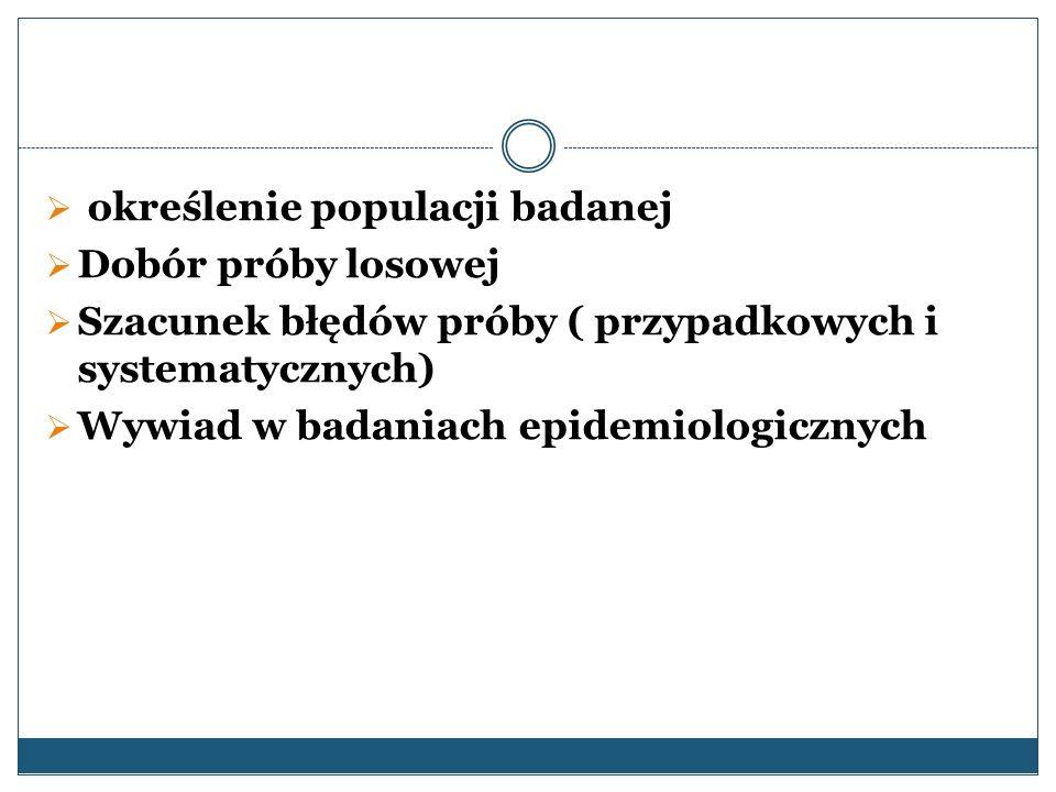 określenie populacji badanej