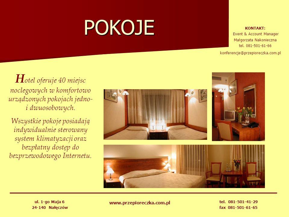 POKOJE KONTAKT: Event & Account Manager. Małgorzata Nakonieczna. tel. 081-501-61-66. konferencje@przepioreczka.com.pl.
