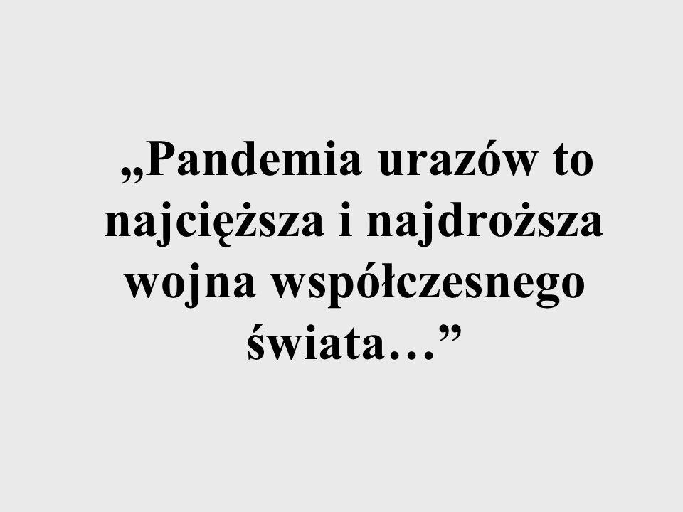 """""""Pandemia urazów to najcięższa i najdroższa wojna współczesnego świata…"""