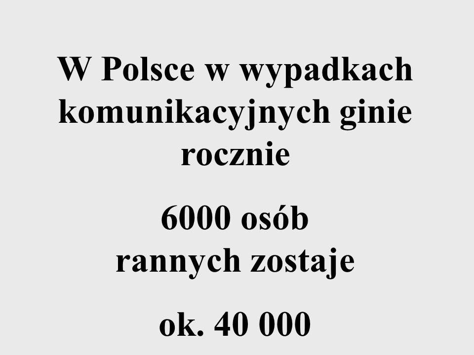 W Polsce w wypadkach komunikacyjnych ginie rocznie