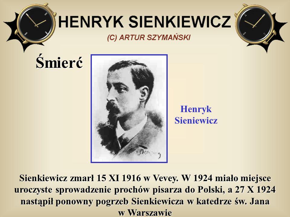 Śmierć Henryk Sieniewicz