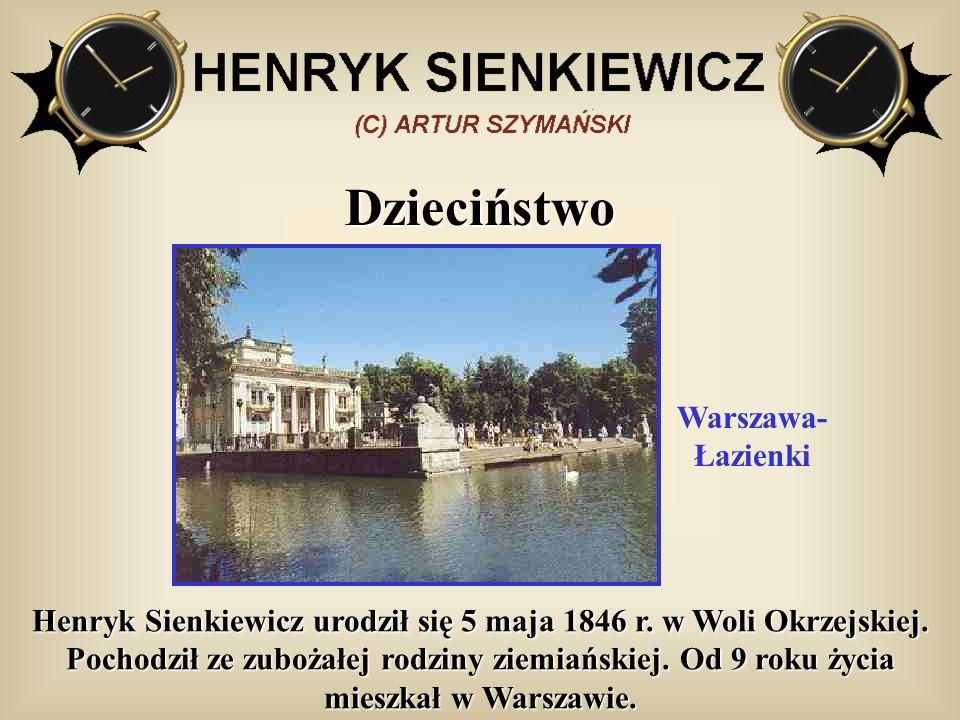 Dzieciństwo Warszawa- Łazienki