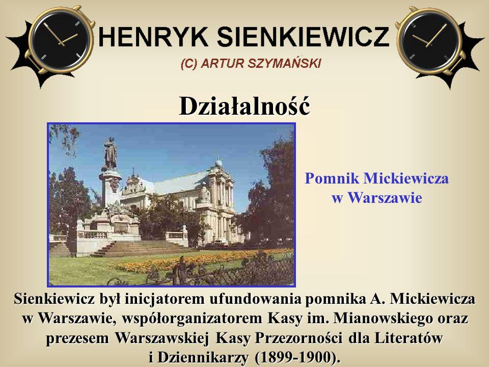 Pomnik Mickiewicza w Warszawie