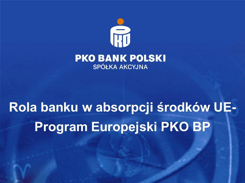 Rola banku w absorpcji środków UE- Program Europejski PKO BP