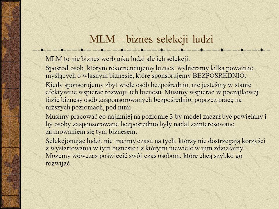 MLM – biznes selekcji ludzi