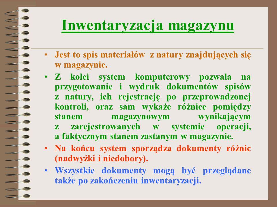 Inwentaryzacja magazynu
