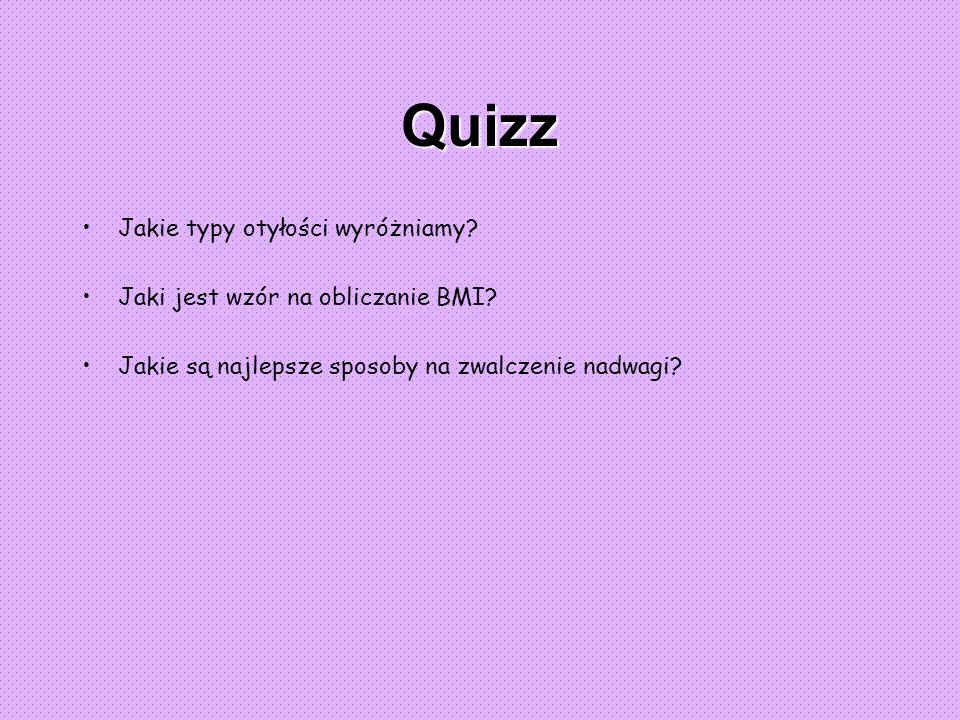 Quizz Jakie typy otyłości wyróżniamy