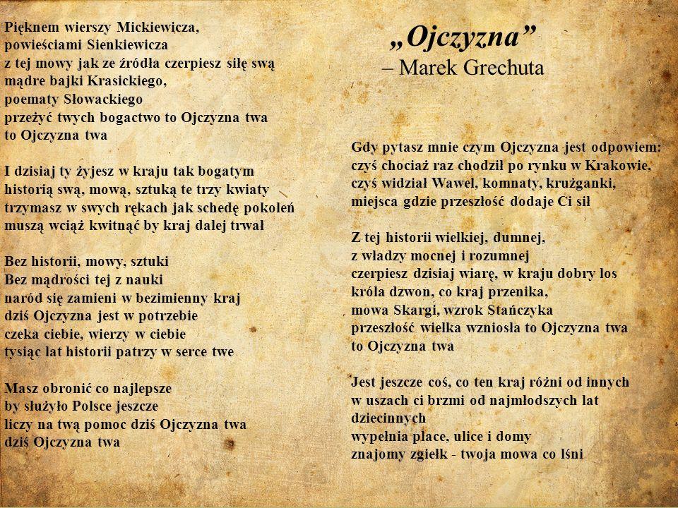 """Ojczyzna – Marek Grechuta"