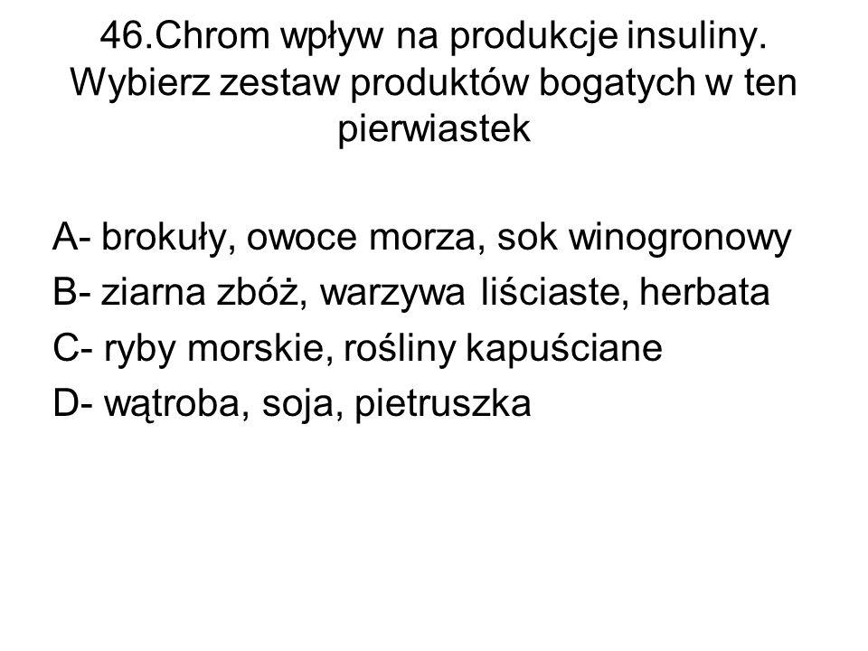 46. Chrom wpływ na produkcje insuliny