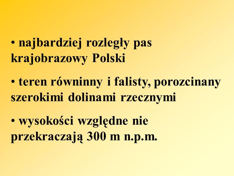 najbardziej rozległy pas krajobrazowy Polski