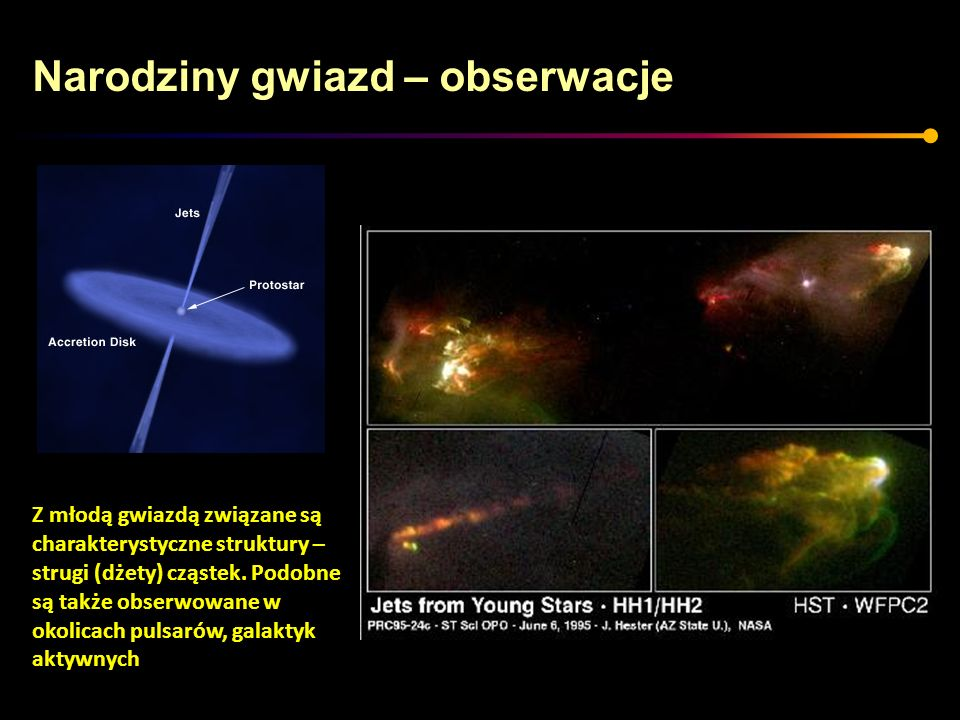 Narodziny gwiazd – obserwacje