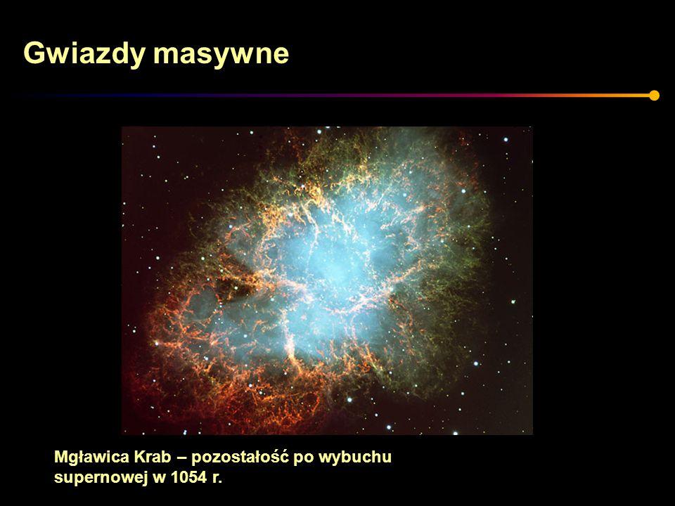 Gwiazdy masywne Mgławica Krab – pozostałość po wybuchu supernowej w 1054 r.