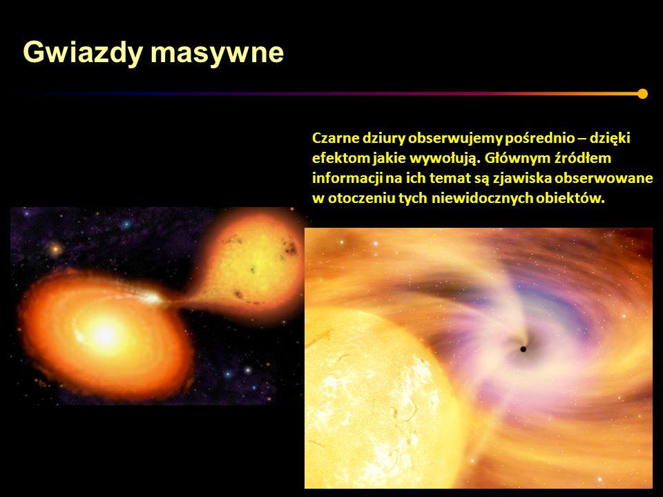 Gwiazdy masywne Czarne dziury obserwujemy pośrednio – dzięki