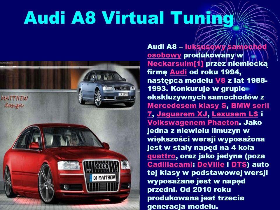 Audi A8 Virtual Tuning
