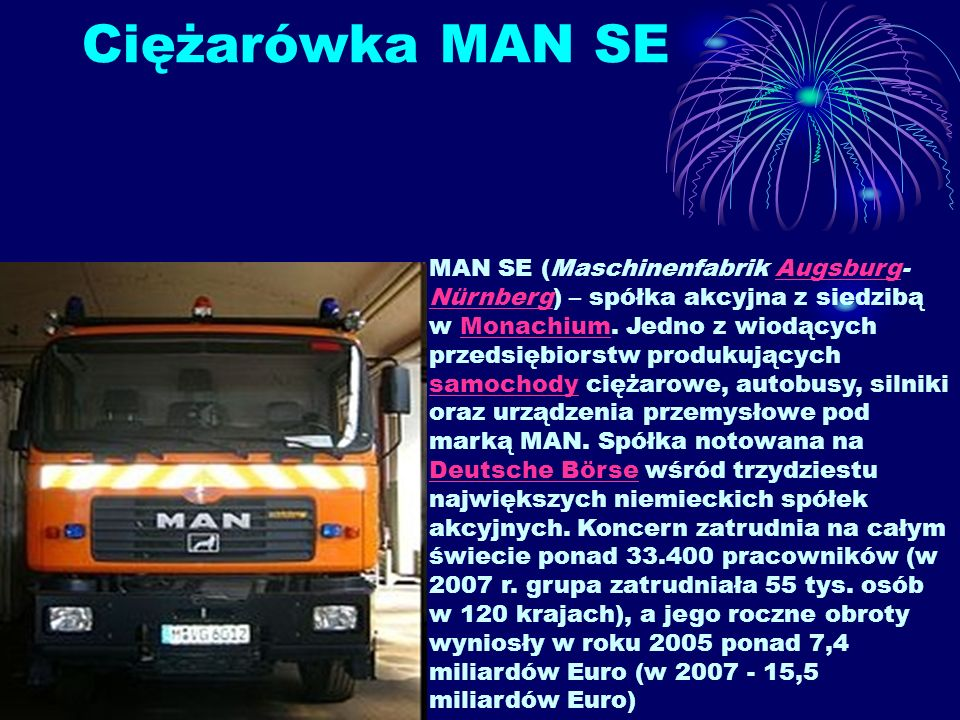 Ciężarówka MAN SE