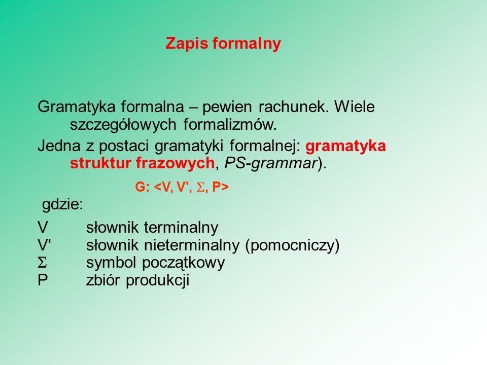 Zapis formalny
