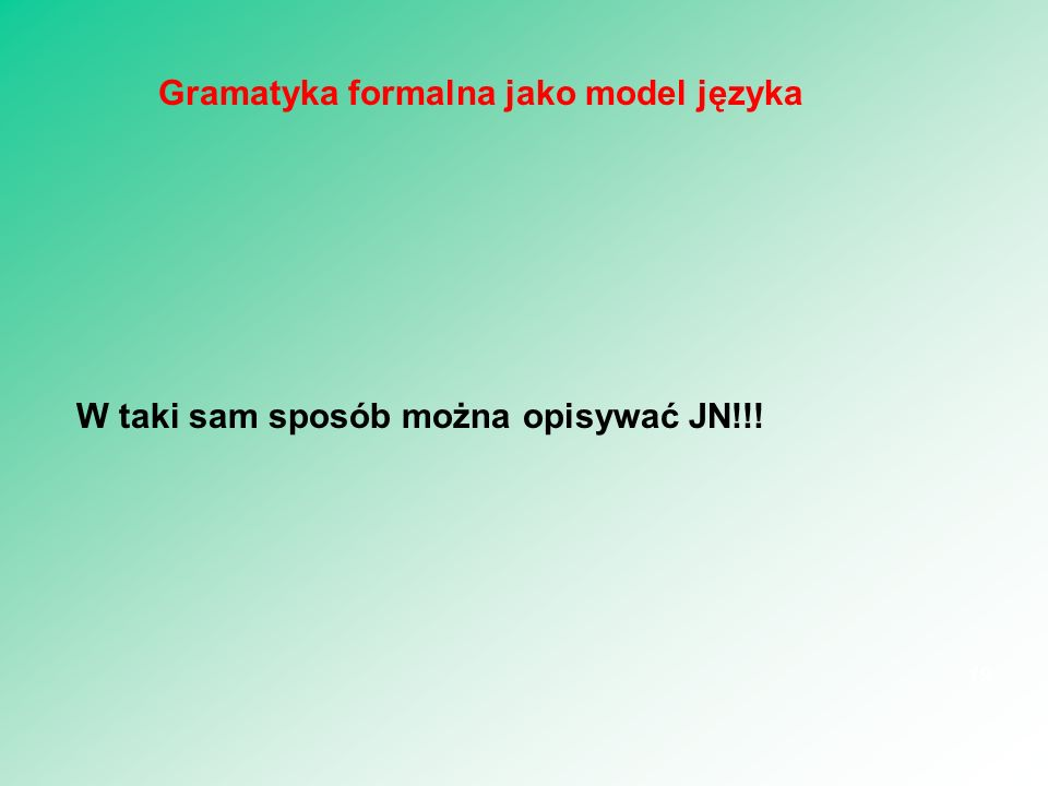 Gramatyka formalna jako model języka