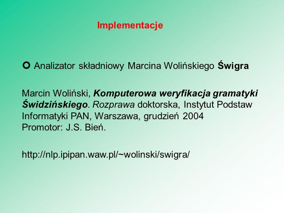 Analizator składniowy Marcina Wolińskiego Świgra