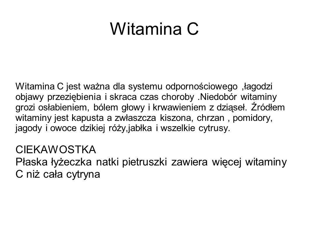 Witamina C CIEKAWOSTKA