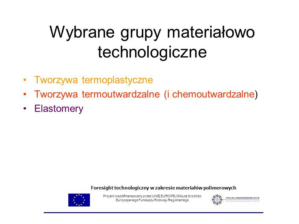 Wybrane grupy materiałowo technologiczne