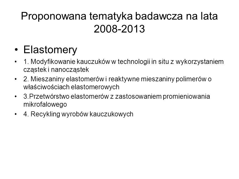 Proponowana tematyka badawcza na lata 2008-2013