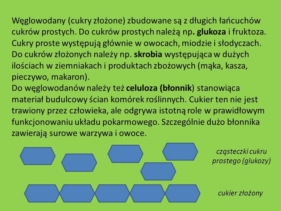 cząsteczki cukru prostego (glukozy)
