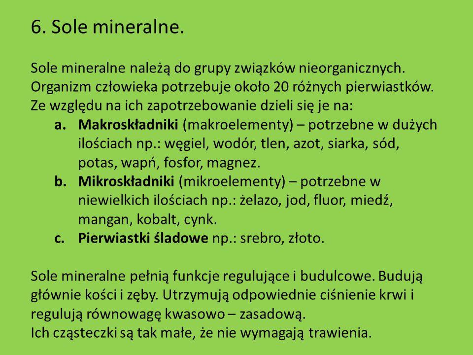 6. Sole mineralne.